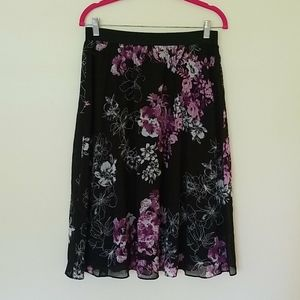 NWT CHRISTOPHER & BANKS floral midi skirt